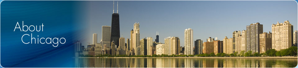 About Chicago Banner with city skyline