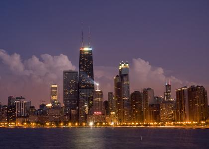 Welcome to Chicago Illinois! Skyline_night
