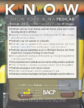 Know Before You Pedicab