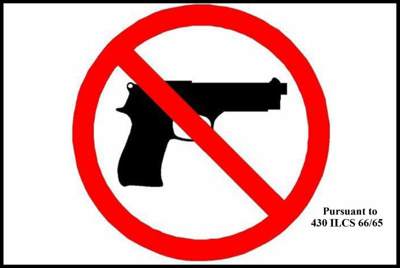 Concealed Carry Prohibited Area Sign
