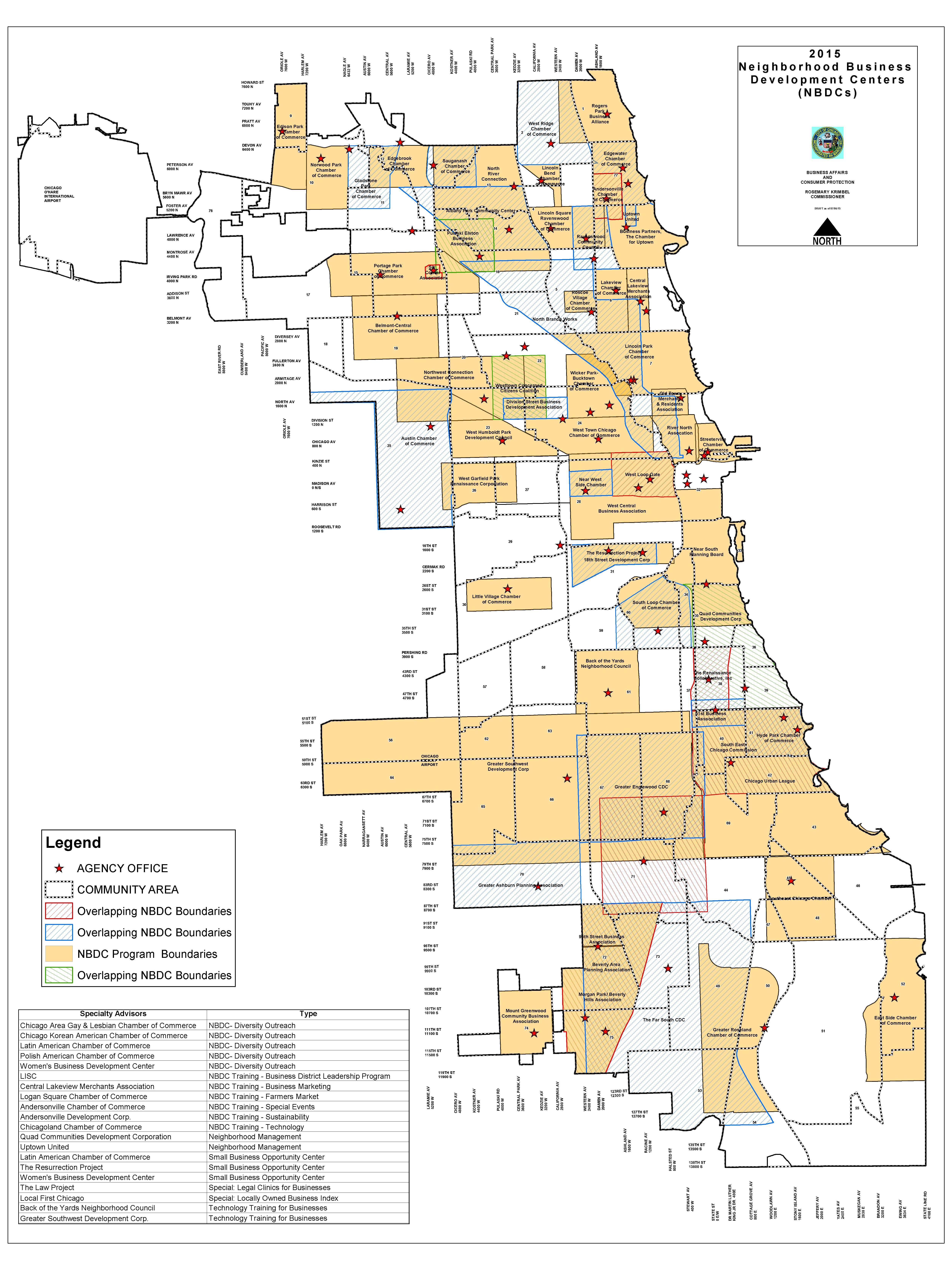 Permit Parking Chicago Map.City Of Chicago Centros De Apoyo Para Pequenas Empresas