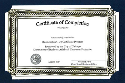Certificate of Completetion