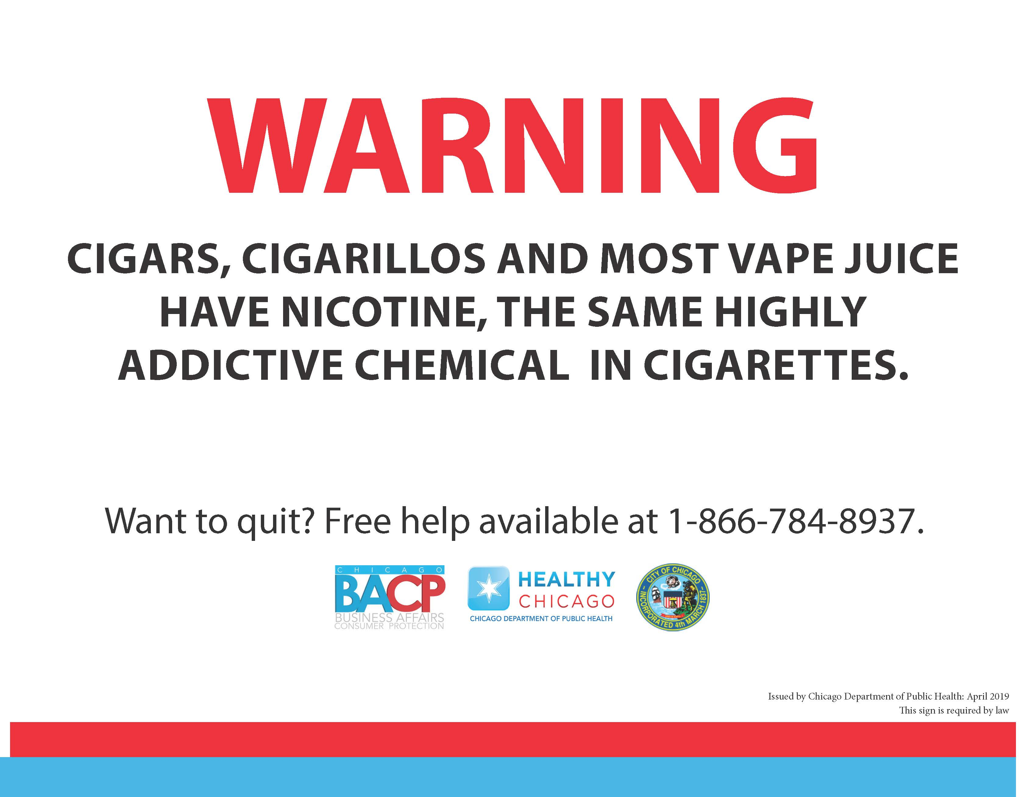 City of Chicago :: New Signage Requirement for Tobacco