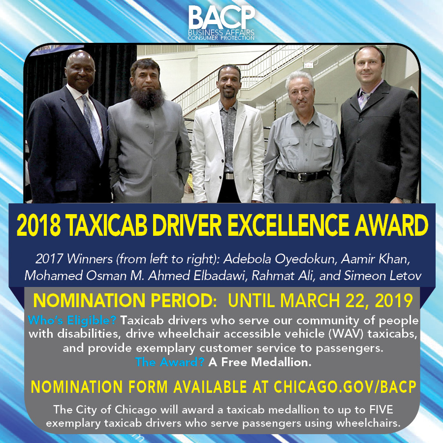 Taxicab Driver Excellence Award