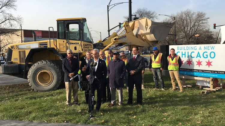 Mayor Emanuel Joins City Officials for the Grand Avenue Reconstruction