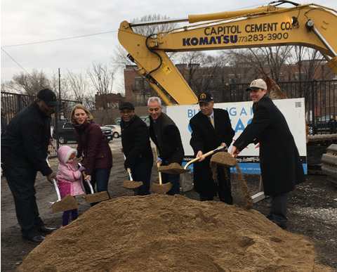Photo from Ground Breaking at Grand Ave.