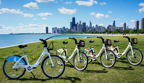 Celebrate Divvy's Fourth Birthday by spotting the Chicago Food-themed bikes around Chicago