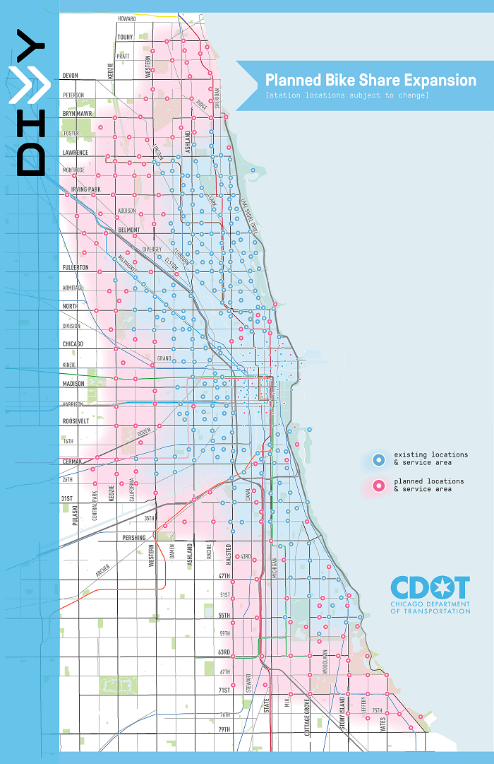 City of Chicago :: Divvy to Expand Next Spring by 175 Stations and Divvy Map Chicago on