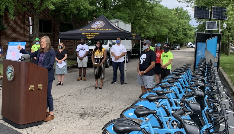 CDOT And LYFT Join Alderman Brookins. Announce DIVVY Expansion Into South Side