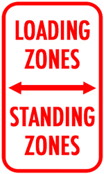 Loading Zones and Standing Zones Icon
