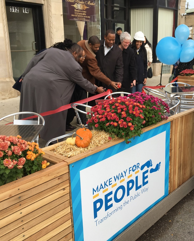 CDOT & DPD Join Alderman Sawyer for Unveiling of Prototype People Spot