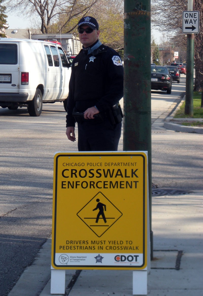 Crosswalk enforcement effort