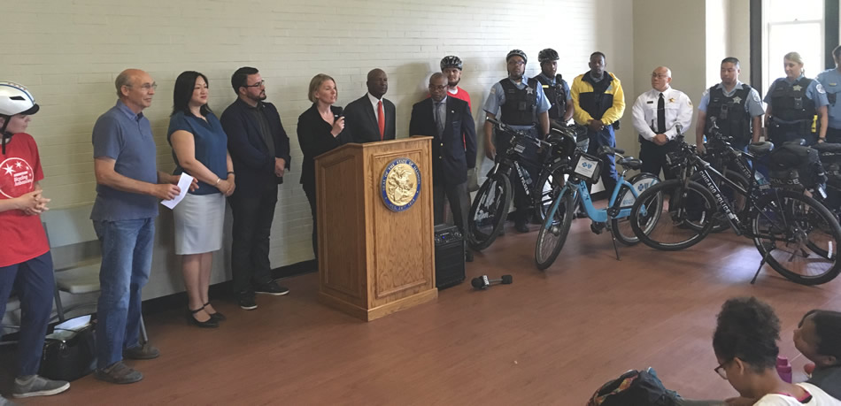 CDOT and Chicago Police to Encourage Bicycle Safety