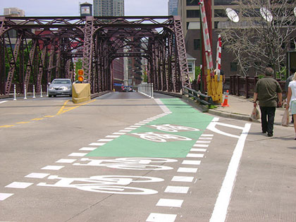 Bicycle Sharrows in Chicago