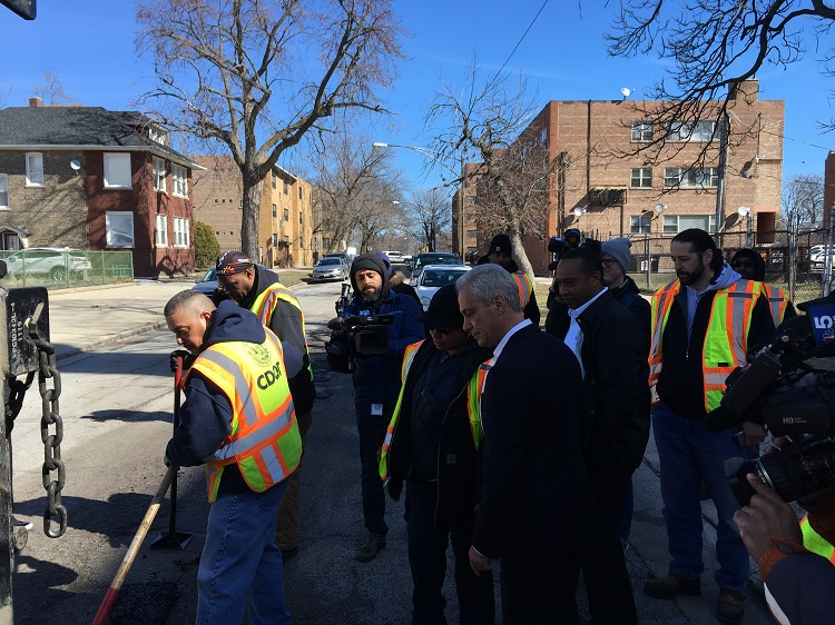 Mayor's Pothole Press Meeting