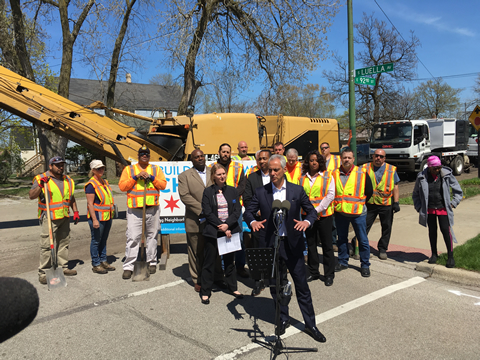 Press Conference on Street Paving Season