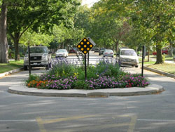 Traffic Calming photo of a traffic circle