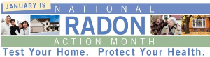 National Radon Action Month Logo