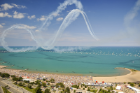 Planes performing maneuvers over North Avenue Beach