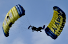 U.S. Navy Parachute Team Leap Frogs