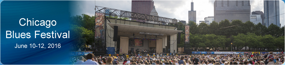 Chicago Blues Festival banner