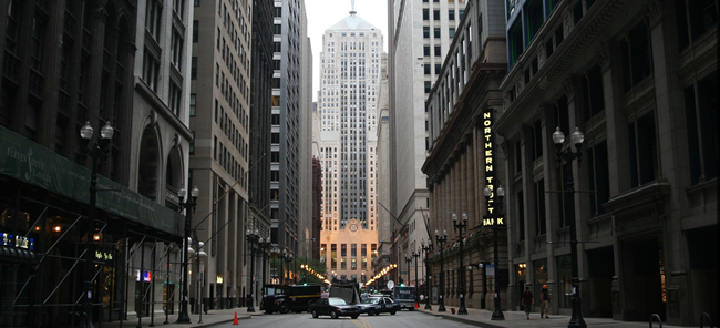 Movie filming in downtown Chicago (Photo by: Raul Esparza III)
