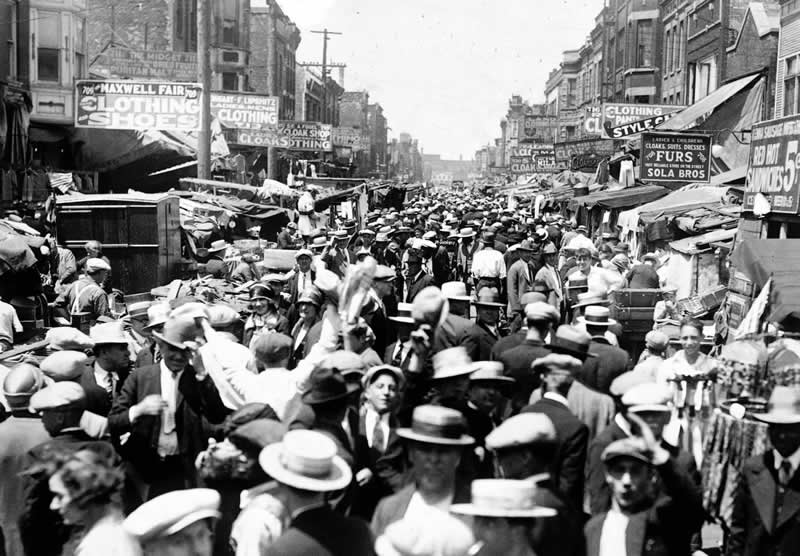 Once located in a dense neighborhood, Maxwell Street Market lowered barriers to entry for entrepreneurs and customers. Chicago Blues resulted from the constant collisions of creativity.