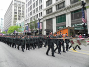 ROTC marching in Chicago's Memorial Day Parade