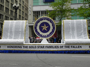 Gold Star Families float