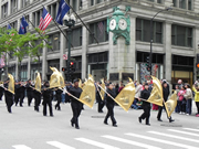 Marching band in Chicago's Memorial Day Parade