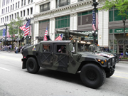 War tank in Chicago's Memorial Day Parade
