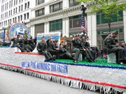 Miller Pub float in Chicago's Memorial Day Parade