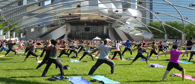 Millennium Park Summer Workouts on the Great Lawn