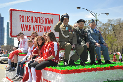 Float in the Polish Constitution Day Parade