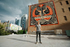 Shepard Fairey, We Own the Future, 2014. 916 S. Wabash. Photo courtesy of the Wabash Arts Corridor