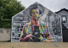Eduardo Kobra, Vivian Maier, 2017. 1651 W. North Ave. Photo courtesy of Justine Jentes.