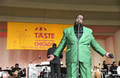Barry White performing at the Petrillo Music Shell