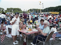 Festival-goers enjoying the Taste of Chicago