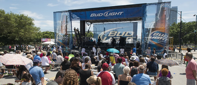 The Bud Light Stage at the Taste of Chicago