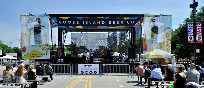 Goose Island Stage at the Taste of Chicago