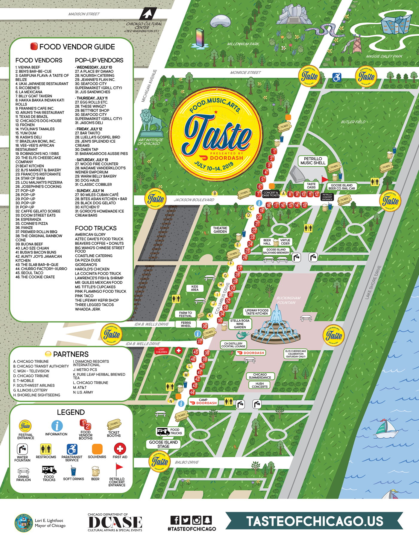 City of Chicago :: Taste of Chicago Map
