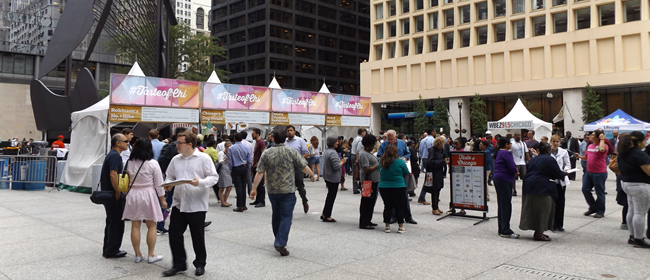 Taste of Chicago Preview on Daley Plaza