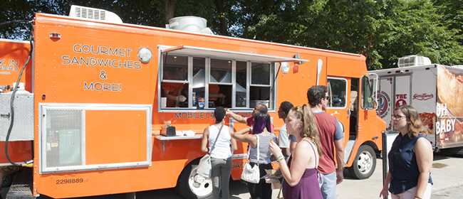 Food truck vendors at the Taste of Chicago