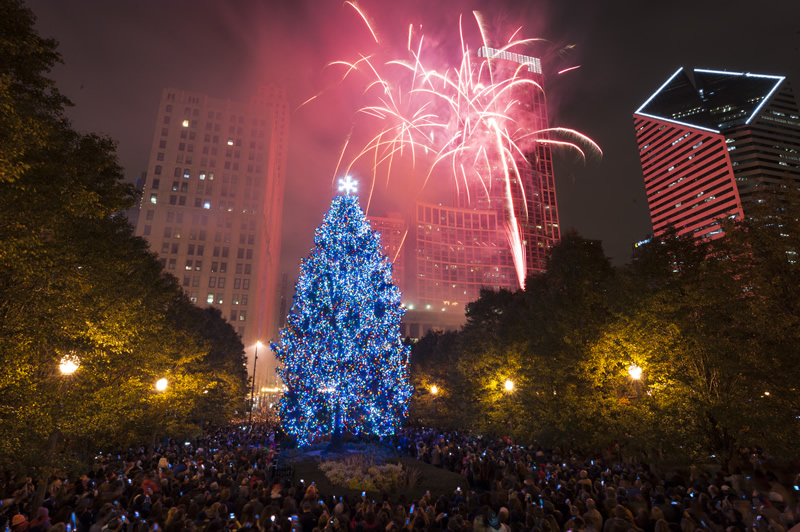 ... Christmas Tree Lighting Ceremony in Millennium Park - City Of Chicago :: Christmas Tree Submissions