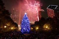 Christmas Tree Lighting Ceremony in Millennium Park