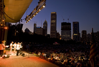 Performance on the Petrillo Music Shell during the 2004 Chicago Jazz Festival