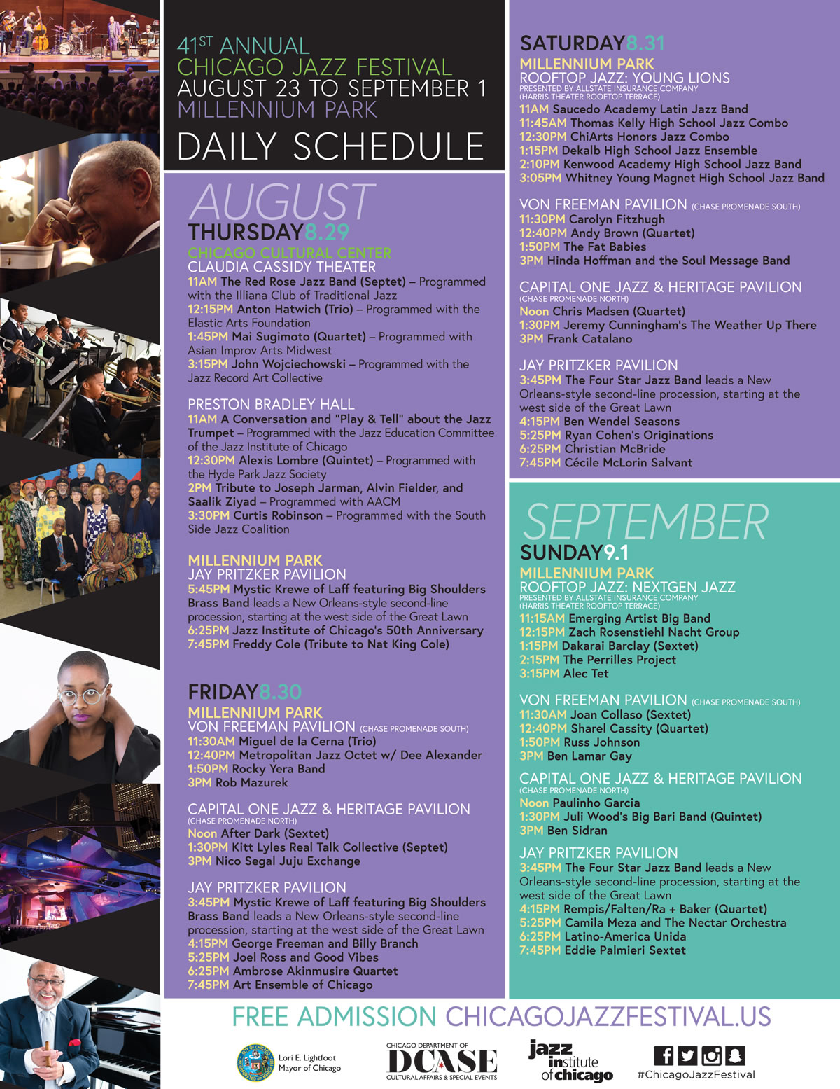 Chicago Jazz Festival Schedule