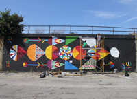Public Art Youth Corps (Artwork: Pajaro Cosmico by Remed, Photo credit: Adam Alexander)