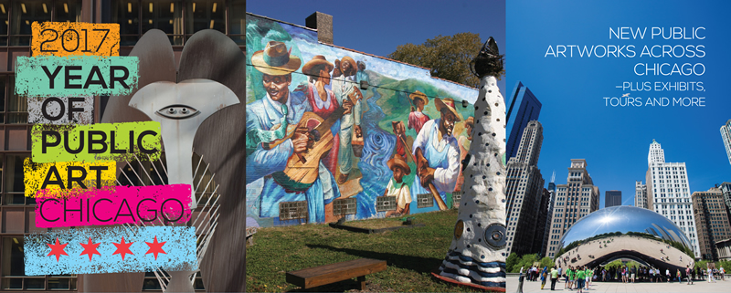 City of chicago year of public art for Planning mural 2017