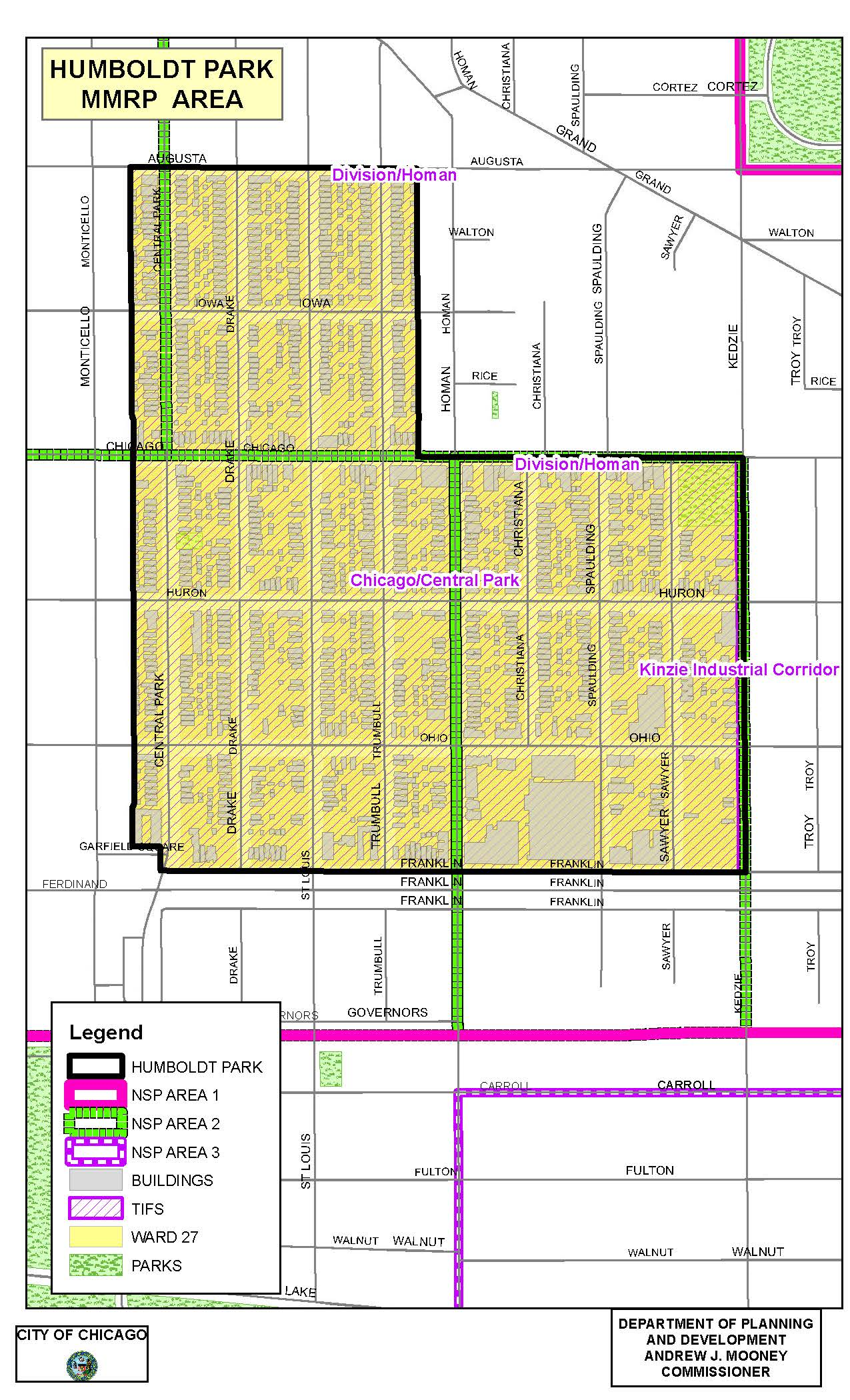 City Of Chicago  Micro Market Recovery Program - Map of chicago dog parks